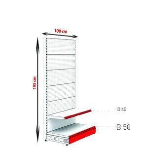 RAFTURI METAL RM-06 PERFORAT Înălțime-195, Lățime-100cm