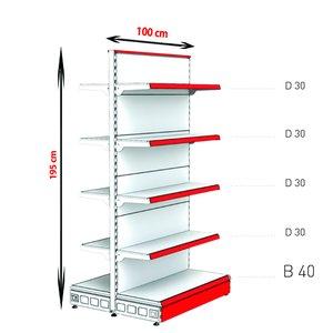 RAFTURI METAL RM-13 Înălțime-195, Lățime-100cm, Bază:40