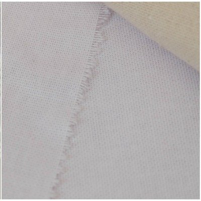 Traditional plain weaved fabric - White