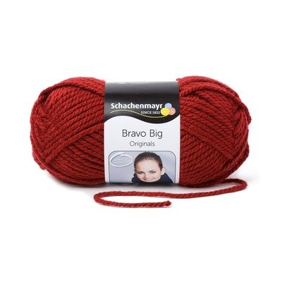 Acrylic Yarn-Bravo Big-Burgundy 00131