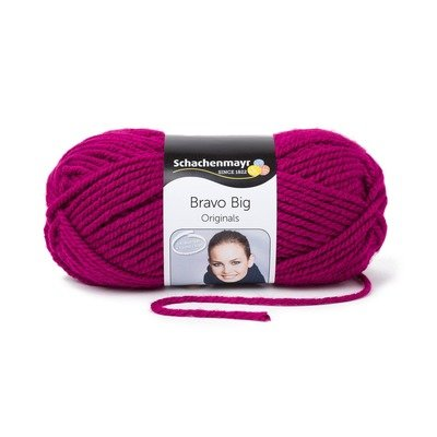 Acrylic Yarn- Bravo Big-Raspberry 00137