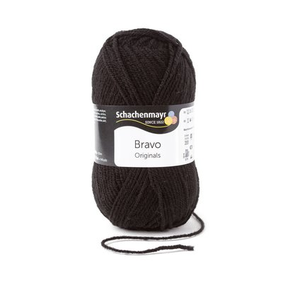 Acrylic yarn Bravo- Black 08226
