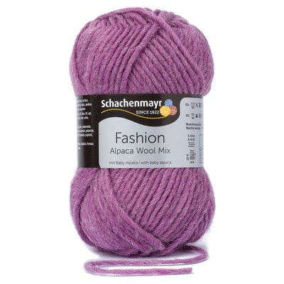 Alpaca Wool Mix-Plum
