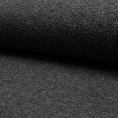 Boiled Wool Fabric - Dark Grey