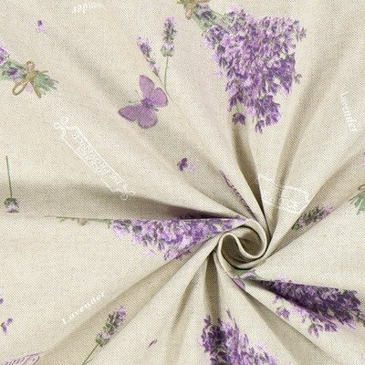 Canvas Linen Look Fabric - Lavender Scent