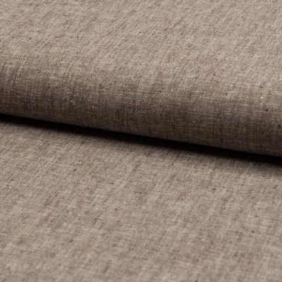 Cotton and linen blend fabric - Taupe Melange