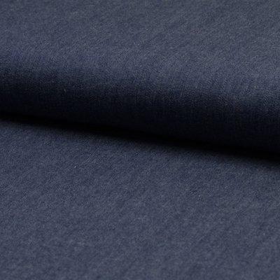 Cotton fabric - Chambrai Uni Dark Blue