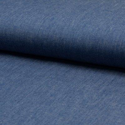 Cotton fabric - Chambrai Uni Washed Blue