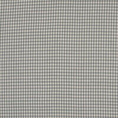 Cotton fabric - Mini Gingham Grey  2mm