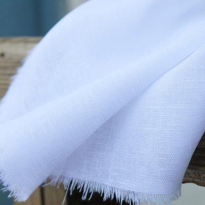 Cotton Gauze fabric - Catrina Linen White