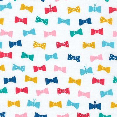 Cotton lawn - London Calling Bowties Multi