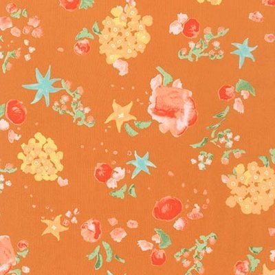 Cotton lawn- Woodland Floral Ocre