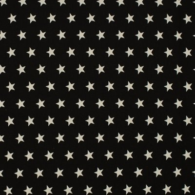 Cotton Poplin - Stars Black