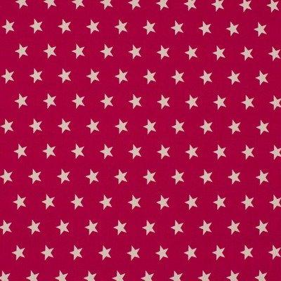 Cotton Poplin - Stars Fuchsia