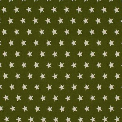 Cotton Poplin - Stars Khaki