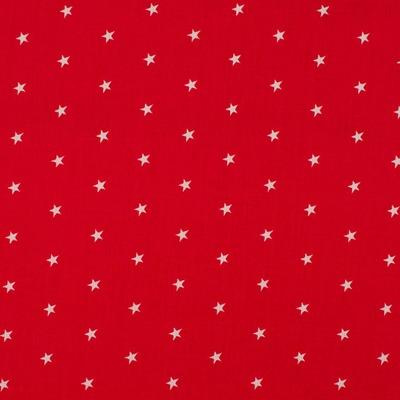 Cotton Poplin Stars Red