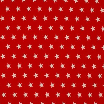 Cotton Poplin - Stars Red