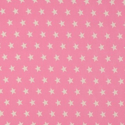 Cotton Poplin - Stars Rose
