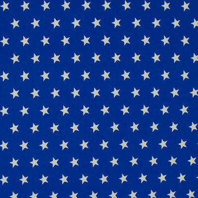 Cotton Poplin - Stars Royal