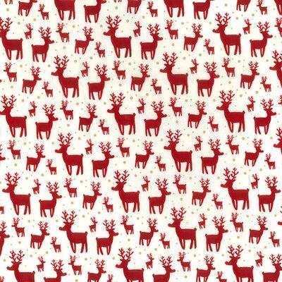 Cotton print - Reindeer Cream