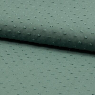 Cotton voile fabric - Dobby Dusty Mint