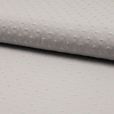 Cotton voile fabric - Dobby Light Grey