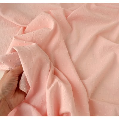 Cotton voile fabric - Plumetis Blush