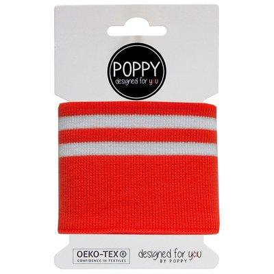 Cuff fabric - Red Stripes 135x7 cm