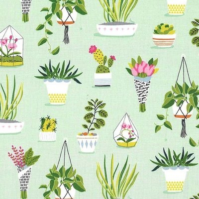 Designer fabric Michael Miller - Pretty Plants Sprout