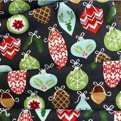 Designer fabric Michael Miller - Trimmings Charcoal