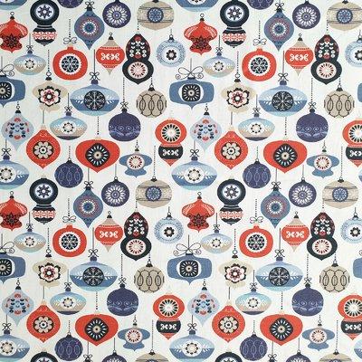 Digital print cotton - Baubles Blue