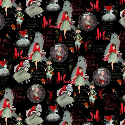 Digital print cotton - Little Red Ridinghood