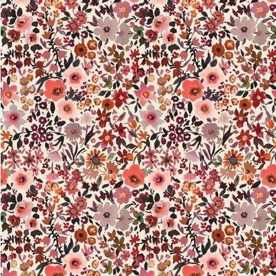 Digital Printed Cotton - Fleur Ecru
