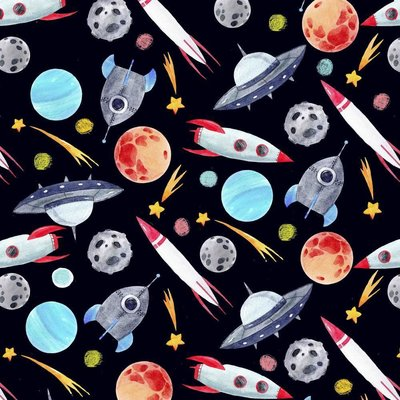Digital Printed Cotton - Out of Space