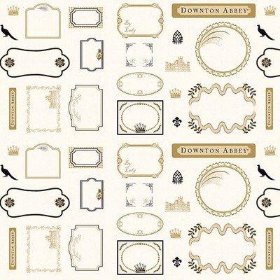 Downton Abbey Quilt Labels - pannel 30cm