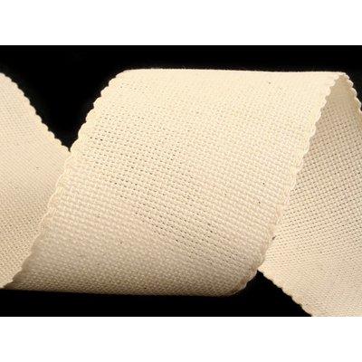 Embroidery Belt Cream- 10 cm wide