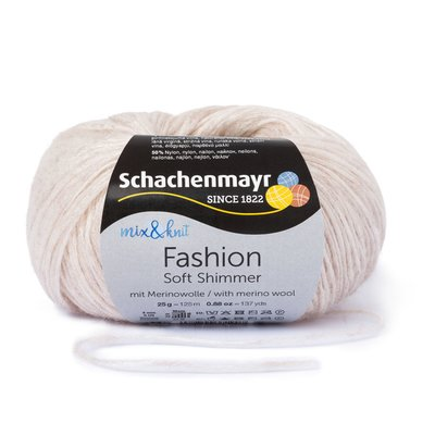Fashion Soft Shimmer Yarn - Pearl 00002