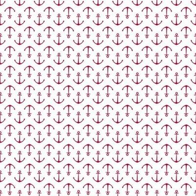 Fat Quarter - Anchors Red - 45x45 cm