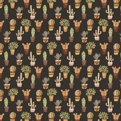 Fat Quarter - Cactus Brown - 45x45 cm