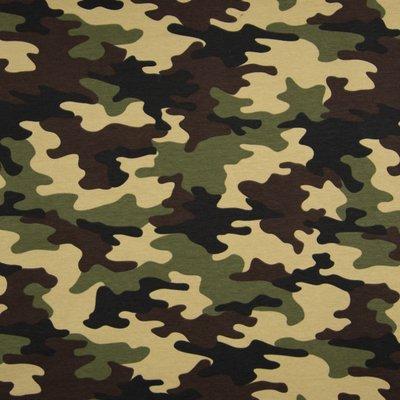 French terry Brushed - Camouflage Khaki