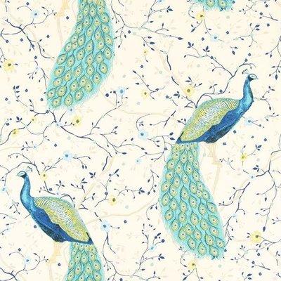 Home decor fabric - Peacock Garden