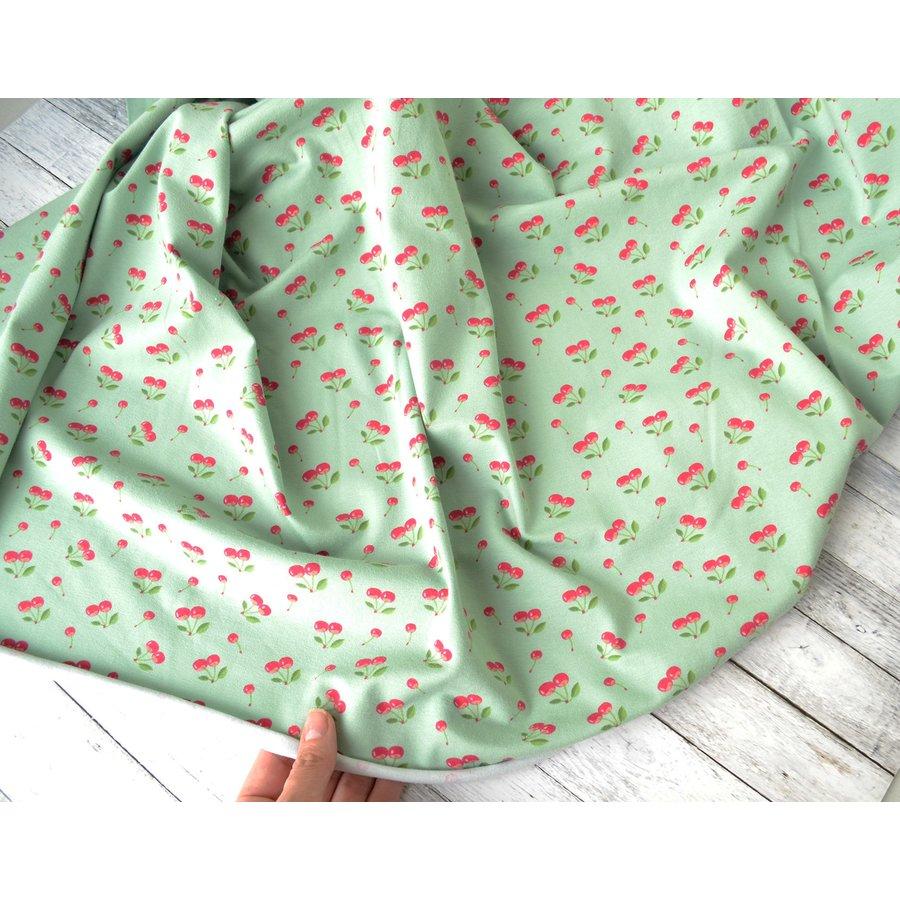 Cherry Printed Cotton viscose jersey Dress fabric 150 cm