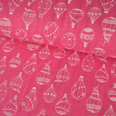 Jersey Sweat Brushed - Balloons Pink