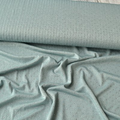 Lightweight Viscose Jersey - Sparkling Dot Dusty Mint