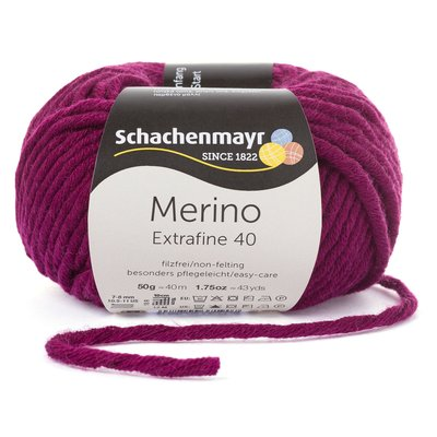 Merino Wool Yarn Extrafine 40 - Burgundy 00333