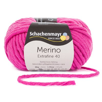 Merino Wool Yarn - Extrafine 40 - Pink 00337