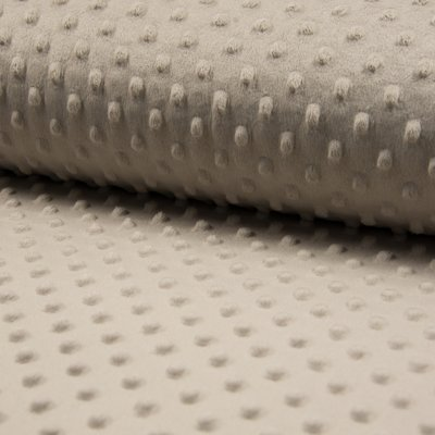 Minky Dot Fleece Fabric - Sand
