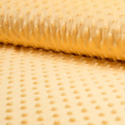 Minky Dot Fleece Fabric - Yellow
