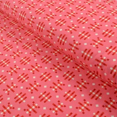 Misguided Gingham fabric - Strawberry
