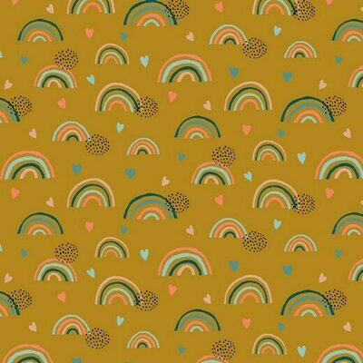 Organic Jersey - Rainbow Ochre